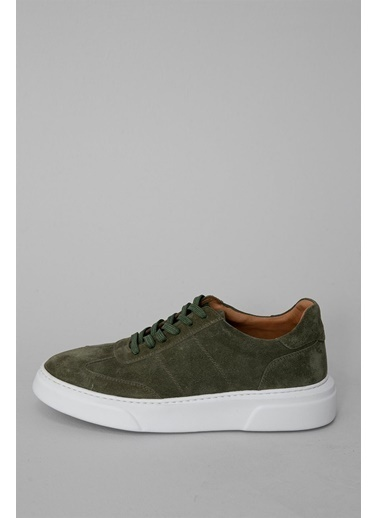 Lufian Toledo Süet Sneaker Haki Haki